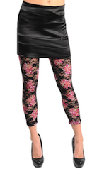 'Love Forever' Romantic Victorian Pink Lace Leggings